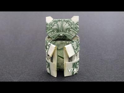 Money Origami TEDDY BEAR - Dollar Bill Art