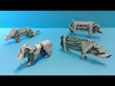 Money Origami - Various Designs - Dollar Bill Art v.2