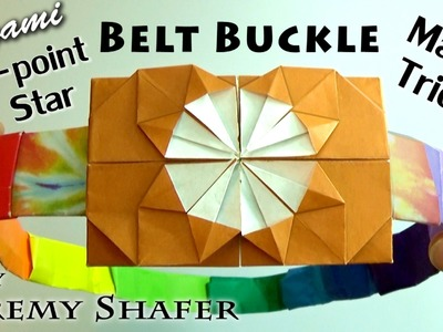 Origami 8-point Star Belt Buckle Magic Trick