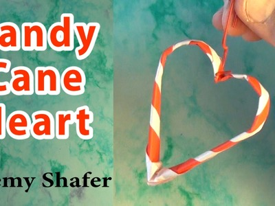 Origami Candy Cane Heart Tutorial by Jeremy Shafer
