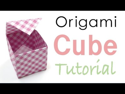 Origami Cube Box Tutorial - Origami Kawaii