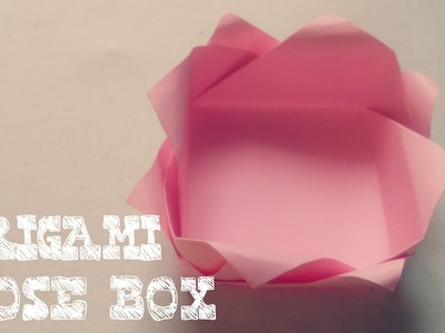 Rose origami flower tutorial origami flower tutorial origami origami easy origami box rose box mightylinksfo
