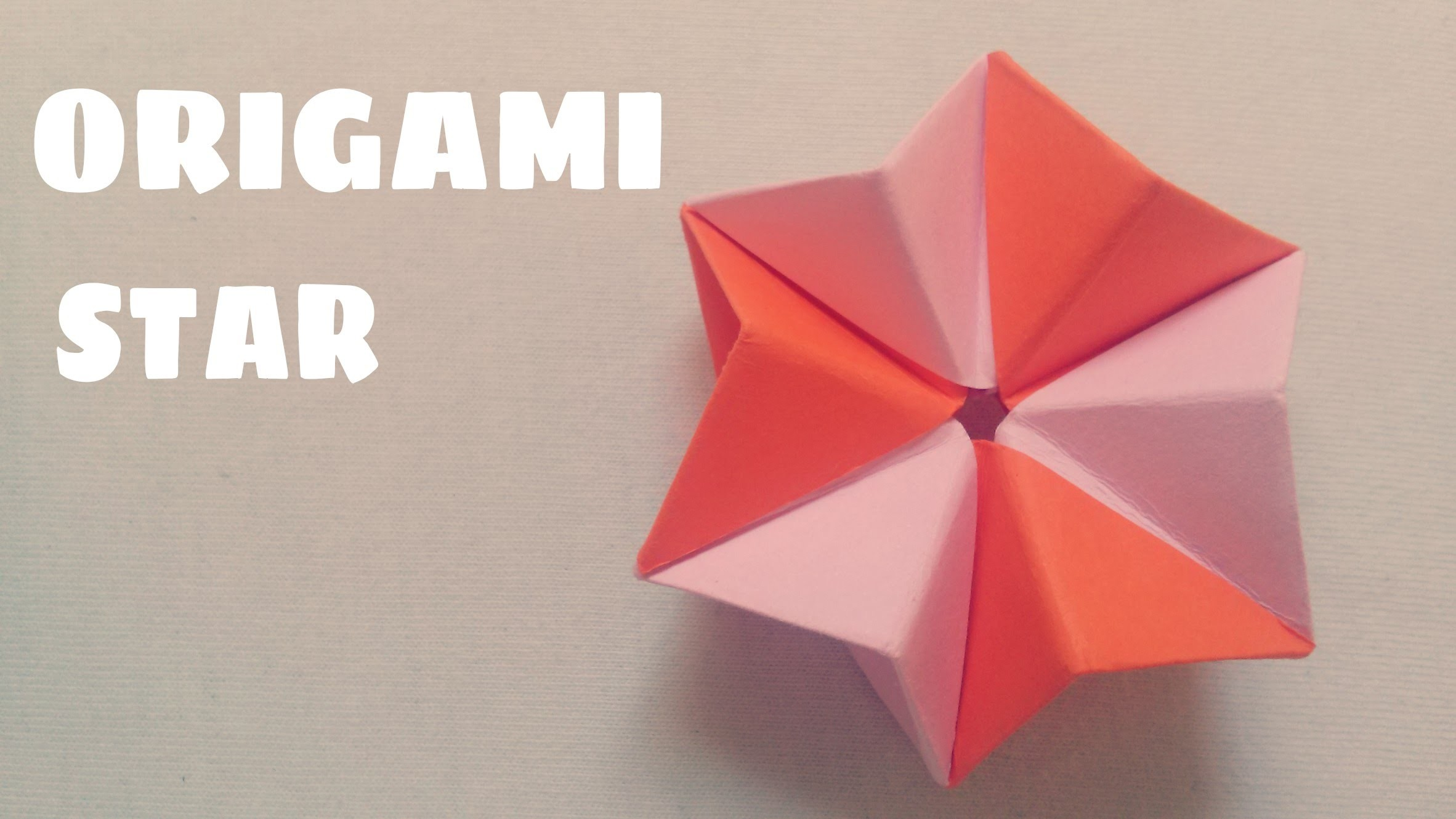 Origami for Kids - 3D Paper Star