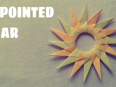 Origami for Kids - Origami 16 Pointed Star (Modular Origami)
