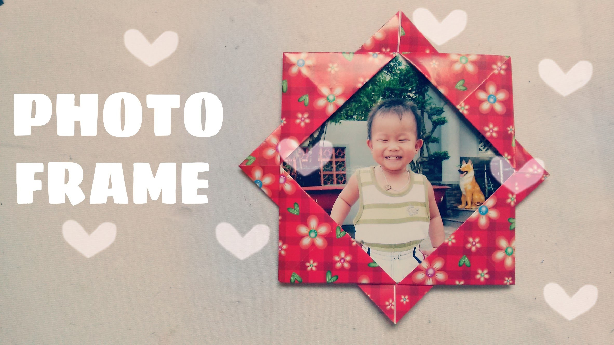 Origami for Kids - Origami Picture Frame - photo#29