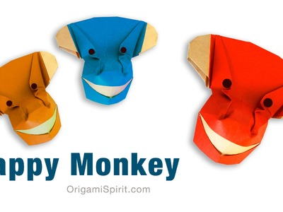 Origami Happy Monkey - Year of the Monkey