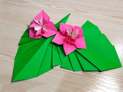 Origami leaf for decor. Easy way to decorate your room. Ideas for Christmas