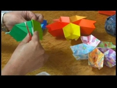Origami Models : Assembling an Origami Cherry Blossom Plate