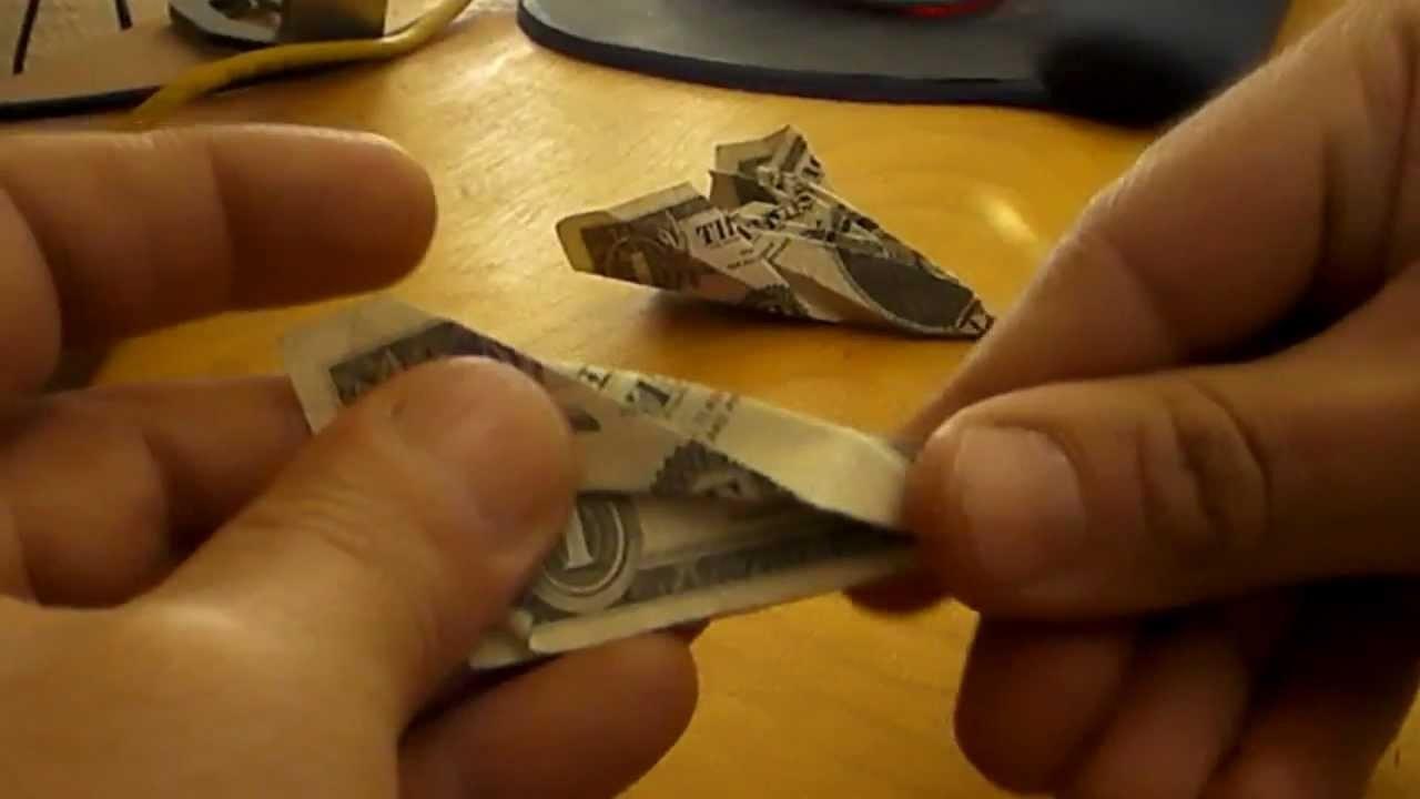 Origami Money Blackbird Jet Plane - Paper Folding Dollar Bill