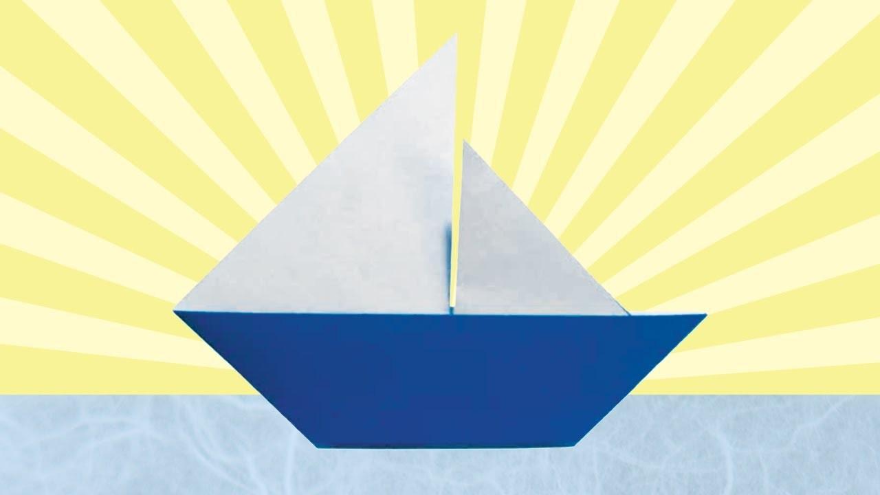 Origami Sailboat (Folding Instructions)