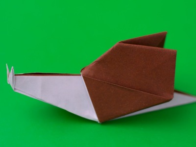 Origami Snail. How to make paper origami snail easy