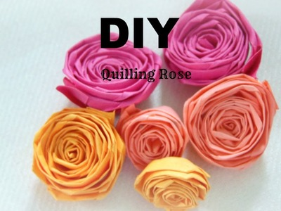 PAPER CRAFT: How To Make Paper Quilling Rose- Easy & Simple DIY in 5 min tutorial.