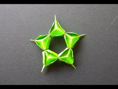 Paper star- origami tutorial