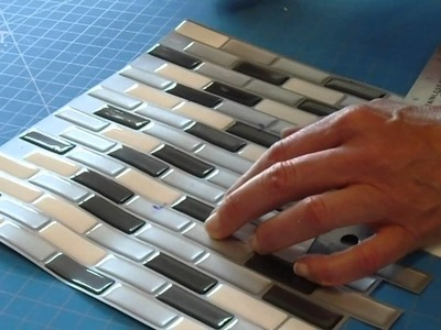 Peel and Stick Smart Tiles Backsplash Installation Video – Interlocking Tiles   Murano Metallik
