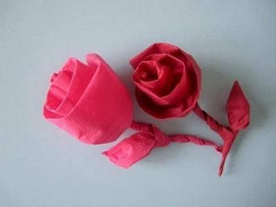 Rose aus Serviette in 2 Minuten falten. Do it yourself Napkin rose