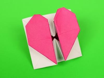 Secret Heart Box. Envelope Origami