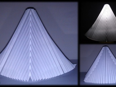 Tutorial 30 - Pyramid Of Paper With V-pleats Symmetrical. Parallel Pleating