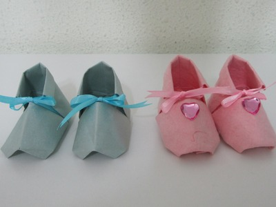 TUTORIAL -  Cute Origami Baby Shoes