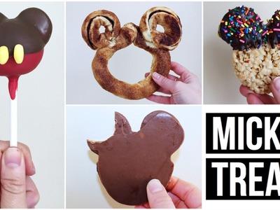 4 DIY MICKEY MOUSE SHAPED TREATS | WALT DISNEY WORLD INSPIRED