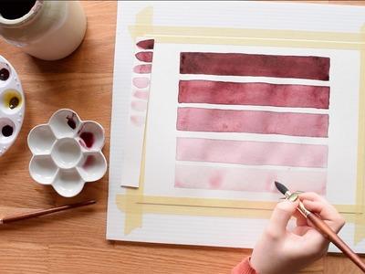 Beginner Watercolor Exercises~ Part 1- Transparency