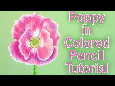 Colored pencil poppy tutorial (on a hot plate)