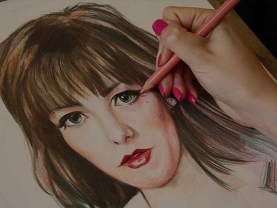 Colour Pencil Portrait Speed Drawing by Lianne Williams