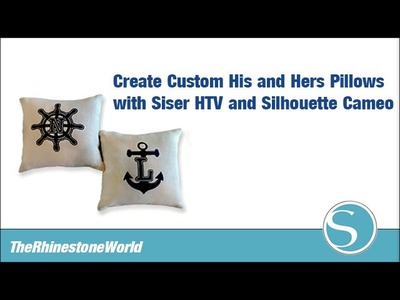 Create His and Hers Pillows with Silhouette Cameo and TRW Monogram Fonts!