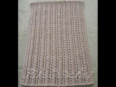 Crochet Cable Stitch Blanket (pt2)