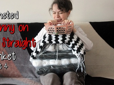 Crocheting a Granny on the Straight Blanket - part 4: 1.3 done