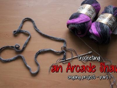 Crocheting an Arcade Shawl - part 1