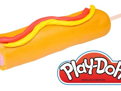 DIY Corn Dogs Play-Doh How To by DCTC * Playdough Food videos 2016