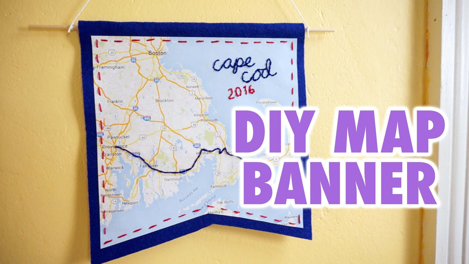 DIY Customizable Map Banner - HGTV Handmade