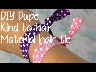 DIY Dupe - Creaseless, Kind to Hair Fabric Hair Tie - Collab with XOLoveleti