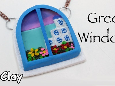 DIY Greek window pendant - Polymer clay tutorial