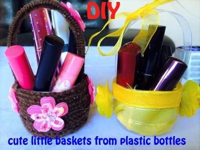 DIY How to make AWESOME MINI BASKET out of plastic bottle!!! Tutorial
