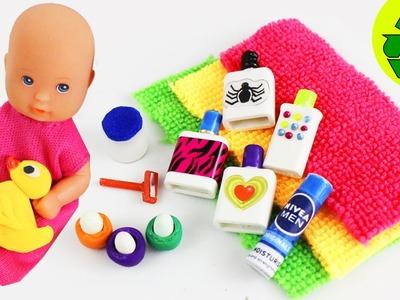 DIY MINIATURE DOLL BATHROOM PRODUCTS  - Easy Doll Crafts