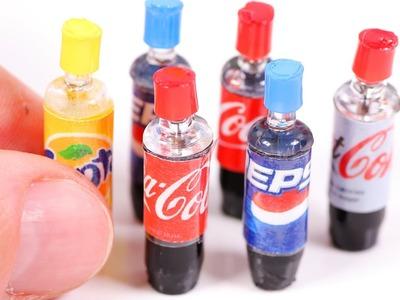 DIY Miniature Soda Bottles ~ Coca-Cola etc.