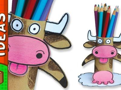 DIY Pencil Holder - Cow | Craft Ideas For Kids on BoxYourself