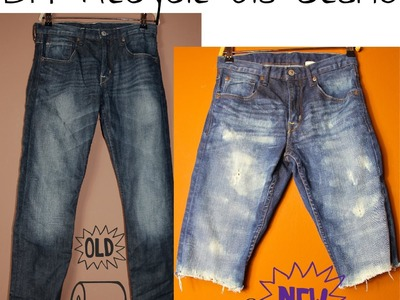 DIY Recycle your Jeans - Make Shorts Do it yourself
