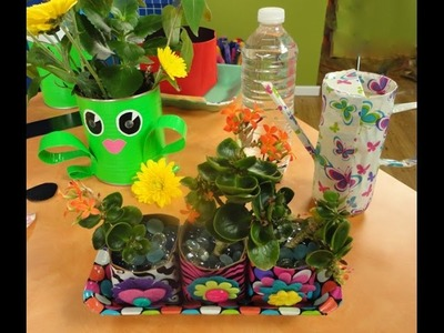 DIY Seed Planter, Watering Can, and Frog Planter on Hands On Crafts for Kids (1512-3)