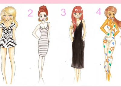 ♡ Drawing Tutorial | 4 SUMMER OUTFITS  ♡