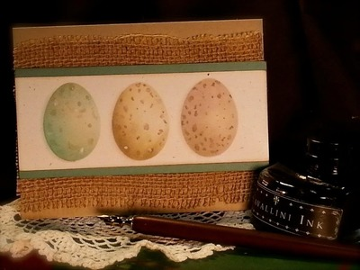 Easter Card - Watercolor Eggs Tutorial