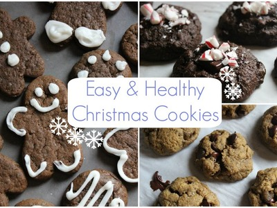 Easy & Healthy Christmas Cookies | Vegan, Gluten Free, & Delicious