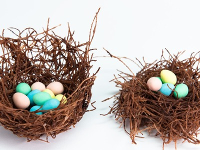 Edible Chocolate Nests filled w. Cadbury Mini Eggs from Cookies, Cupcakes and Cardio
