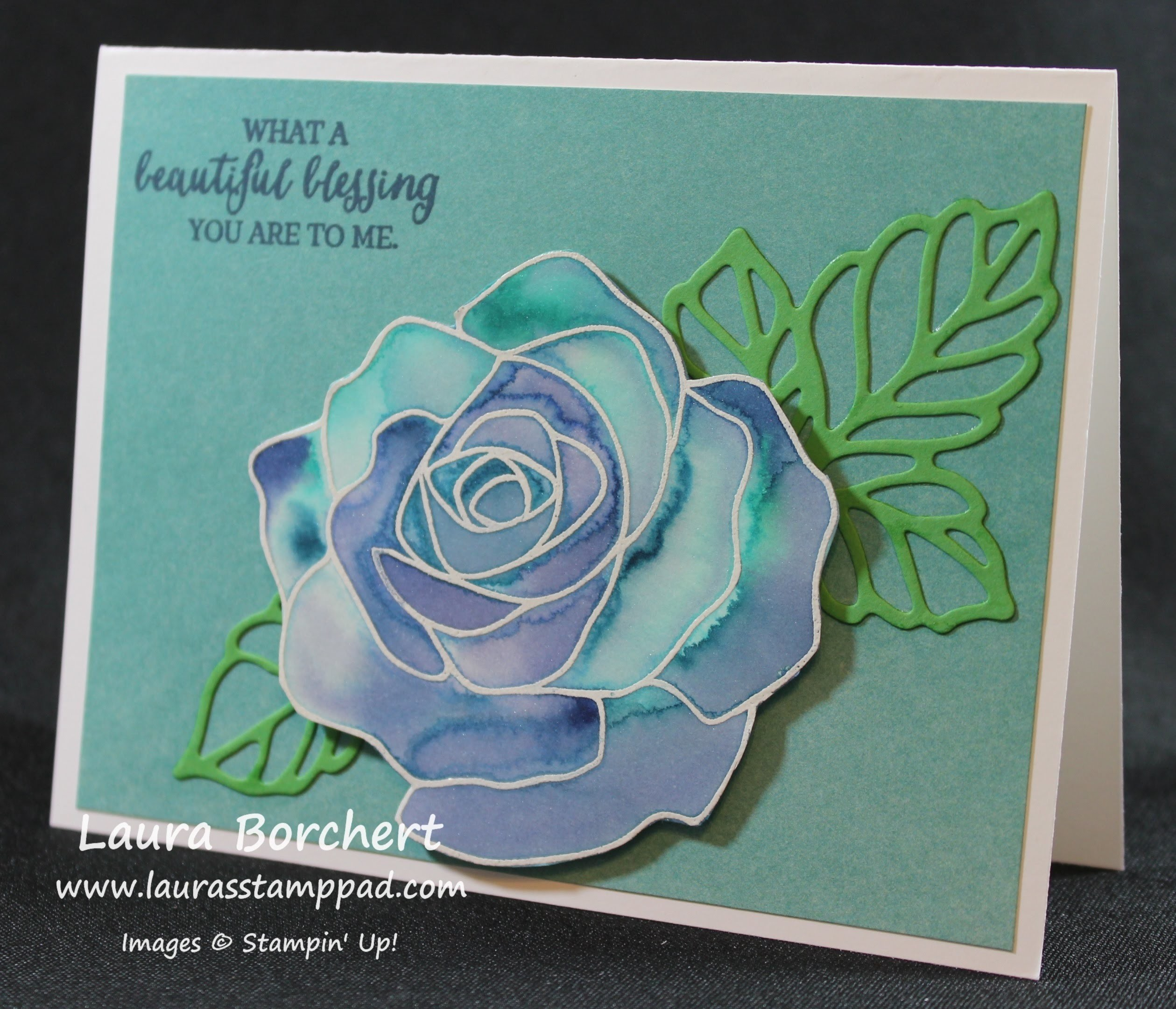Floating Watercolor with the Rose Wonder Stamp Set - Laura's Stamp Pad