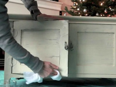 Furniture Painting Tutorial - Step 2: Painting & Wet-Distressing