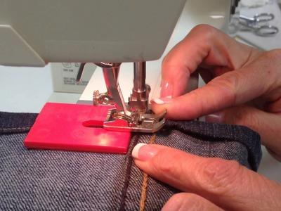 Hem Jeans with a Jean A Ma Jig - ©laboursoflove.com