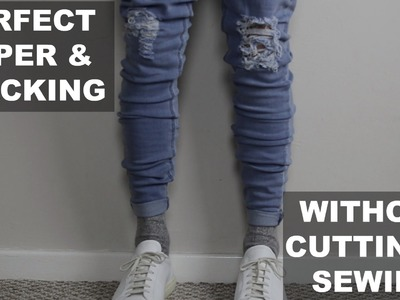 How I Taper & Stack Jeans Perfectly - No Cutting or Sewing - Easy Guide. Tutorial