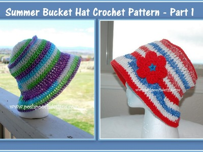 How to Crochet A Summer Bucket Hat - Part 1