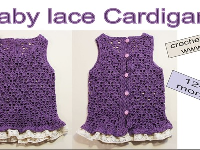 How to crochet jacket Baby cardigan Baby sweater design PART1 #baby_crochet